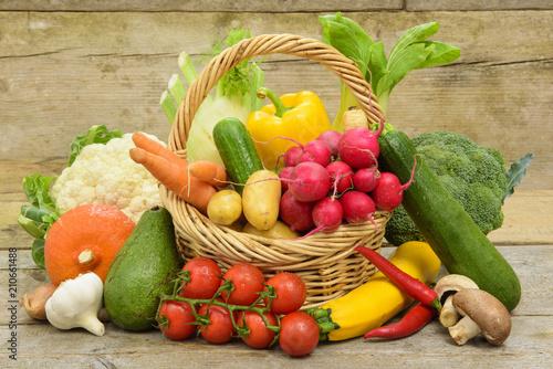 Leinwanddruck Bild healthy vegetables from market