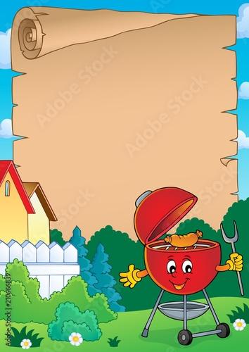 Fotobehang Voor kinderen Barbeque theme parchment 3