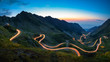 Leinwanddruck Bild - Transfagarasan road, most spectacular road in the world
