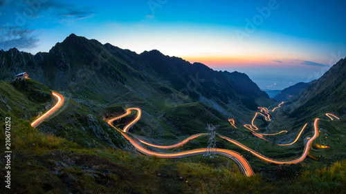 Leinwanddruck Bild Transfagarasan road, most spectacular road in the world