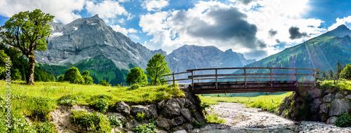 Aluminium Bruggen karwendel mountains