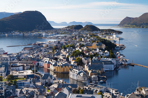 Alesund from the Fjellstua Viewpoint - 210672875