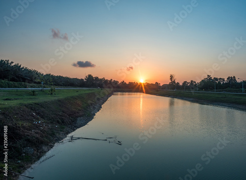 sunset view from the river © abnohr