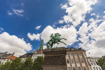 Bishop Absalon statue in Copenhagen, Denmark © Boggy