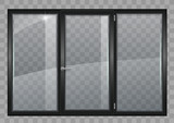 Black window with transparent glass - 210703469