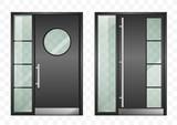 Set of modern entrance doors - 210703800