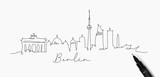 Pen line silhouette berlin - 210705022