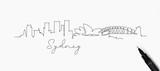 Pen line silhouette sydney - 210705094