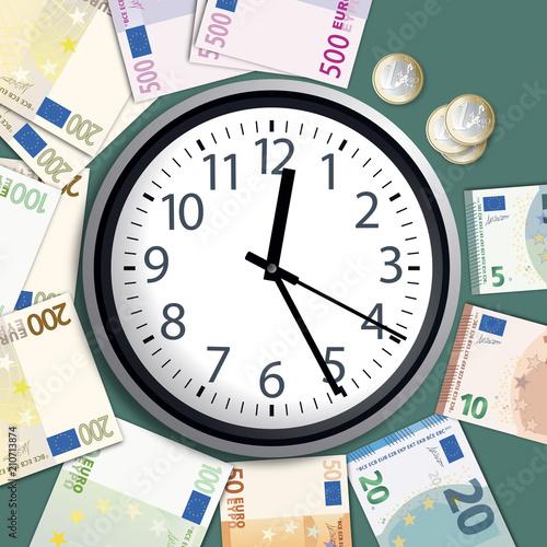 pieniądze - czas to pieniądz - koncepcja - bogaty - sukces - sukces - zarabiaj pieniądze