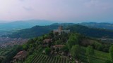 Flight over the real Romeo and Juliet's castles. The story was born in a small town called Montecchio, where the two fighting families had castles facing each other. - 210715064