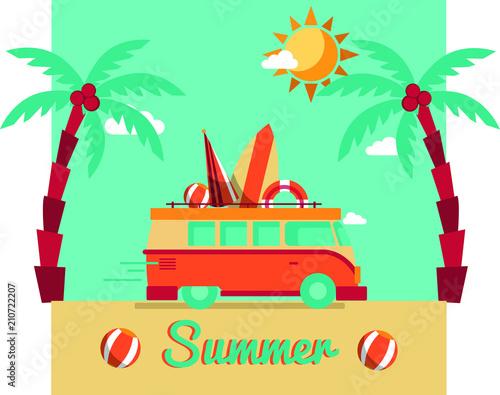 Plexiglas Auto Summer truck