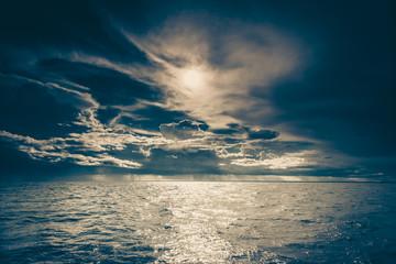 seascape sea horizon and sky. © Voyagerix