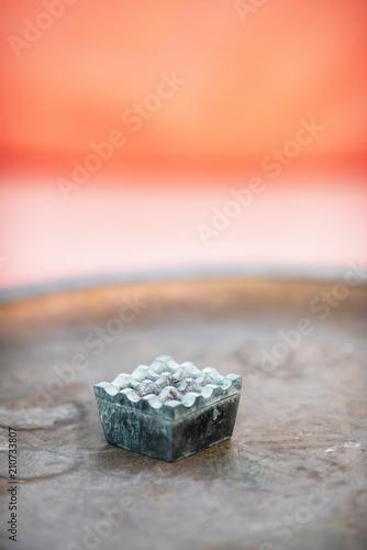 Fotobehang Marokko Traditional moroccan ashtray on outdoor table.