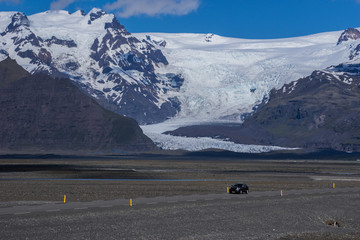 Glacier in the Vatnajökull National Park, Iceland