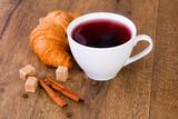 Tea with croissant - 210738274