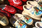 Netherlands,North Holland,Duch, june 2016:Clogs on the traditional, folkloristic cheese market in Alkmaar, Holland