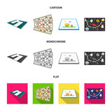Board game cartoon,flat,monochrome icons in set collection for design. Game and entertainment vector symbol stock web illustration. - 210781227