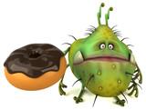 Fun germ - 3D Illustration - 210782845