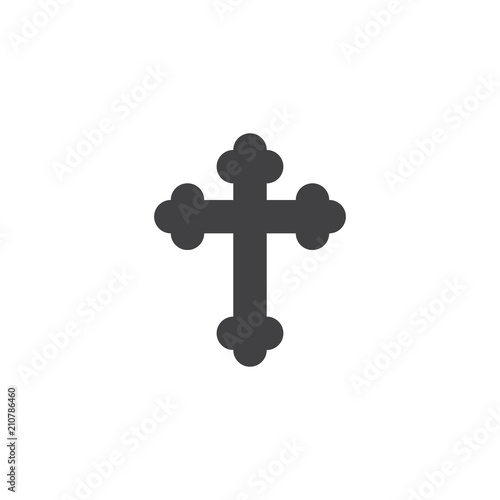 Religion cross vector icon. filled flat sign for mobile concept and web design. Crucifix simple solid icon. Symbol, logo illustration. Pixel perfect vector graphics