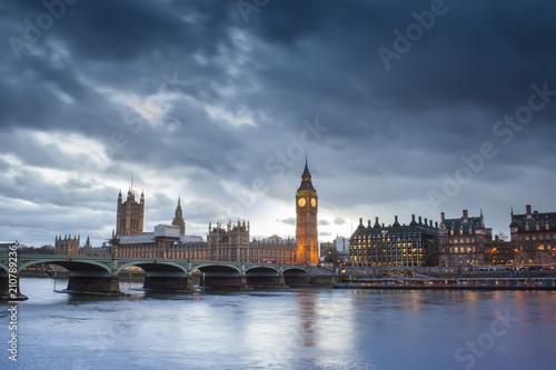 Big Ben in London city, United Kingdom. dark scene