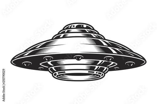 Vintage UFO spaceship concept © imogi