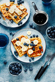 Delicious Breakfast with waffles