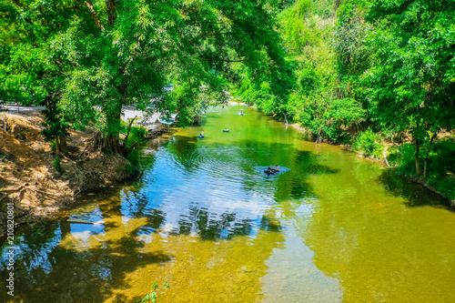 Plexiglas Groene Beautiful river on countryside Thailand,Beautiful Nature of countryside thailand