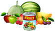 A Can of Mixed Fruit and Fresh Fruit