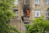 fire in a block of flats - 210828043
