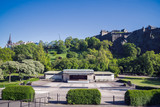 A view of the Ross Bandstand in Princess Street gardens, Edinburgh, Scotland, UK.  It is well known for its use for the annual Festival Fireworks display and Hogmanay concert. - 210828812