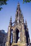 The Scott Monument, Princes Street, Edinburgh, Scotland, UK.  A Victorian Gothic monument to Scottish author Sir Walter Scott. - 210829009