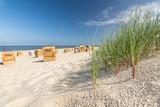 Strand Gras Düne Strandkörbe - 210846833