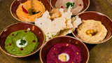 assorted of oriental food, mezze - 210871243