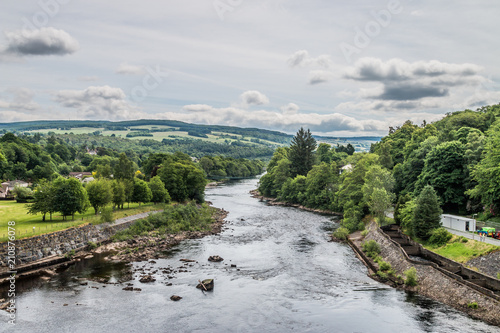 Fototapeta View of Pitlochry