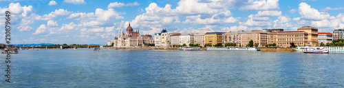 Parliament on the Danube in Budapest, Hungary