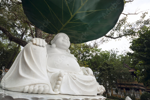 Aluminium Boeddha Buddha statue, marble made - Asia