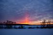 Visual atmospheric phenomenon Light pillar  - 210909870