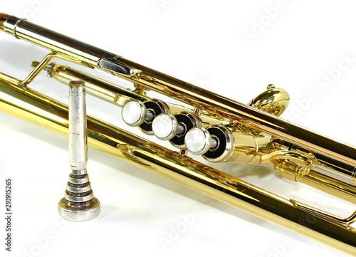 Fototapeta Trumpet isolated on a white