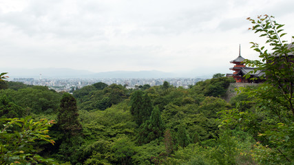 View of Kyoto city landscape from hills of Kiyomizudera temple © Kenishirotie
