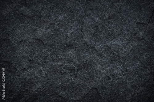 Dark grey black slate background or texture. - 210930407