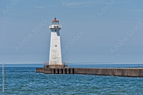 Plexiglas Pier Sodus Point Outer Lighthouse In New York State