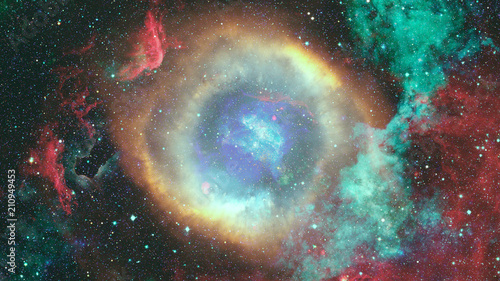 Nebula and stars in outer space. Elements of this image furnished by NASA. - 210949453