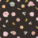 Watercolor floral pattern - 210954851