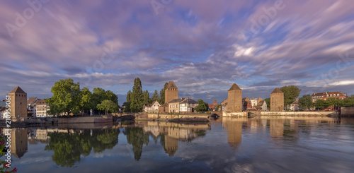 Fotobehang Lavendel Strassburg Elsass Barrage Vauban Panorama Frankreich