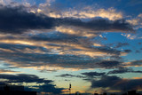 Beautiful skysape and clouds in sunset sky. Concept of backgroung photo and cloudscape. - 210970016