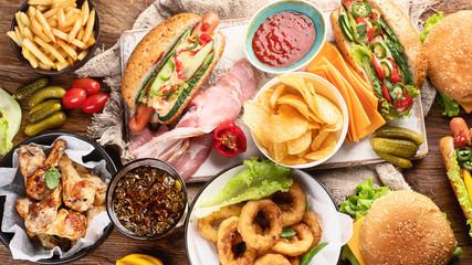 American food. Fast food