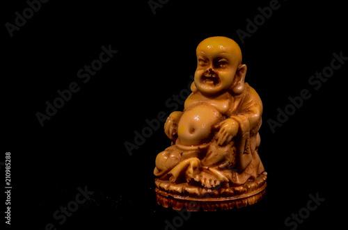 Aluminium Boeddha Oriental Buddist Statue Isolated