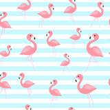 Tropical flamingo seamless pattern