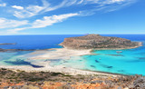 Famous Balos lagoon on Greece island Crete