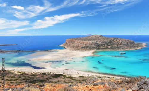 Fotobehang Tropical strand Famous Balos lagoon on Greece island Crete